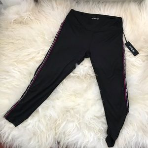 Bebe leggings pink accents activewear